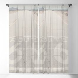 Route 66 ... Sheer Curtain