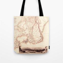 Map Of Sicily 1839 Tote Bag