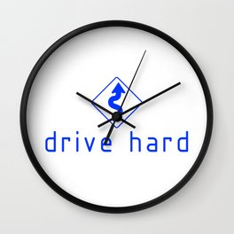 Drive Hard v3 HQvector Wall Clock
