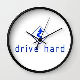 Drive Hard v3 HQvector Wall Clock