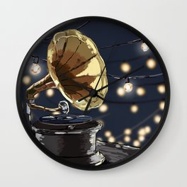 Music Outside Wall Clock