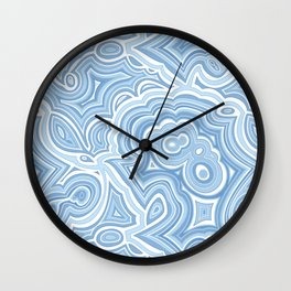 Blue Lace Agate Wall Clock