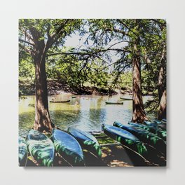 Boating down the River Metal Print