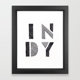 Indy Indianapolis Indiana Framed Art Print
