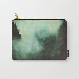 Morning dust on Mountains - Forest Wood Tree Carry-All Pouch