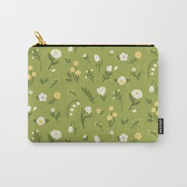Green Spring Floral Carry-All Pouch