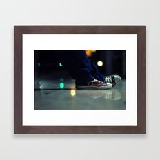 US Flag Shoes American All Star with a Reflection Framed Art Print