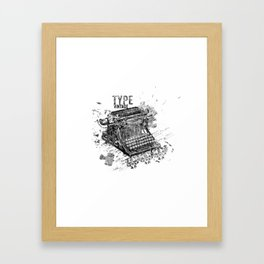 Vintage Typewriter - Type Vintage Framed Art Print