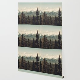 Snow capped Sierras Wallpaper