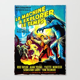 The Time Machine (French) Canvas Print