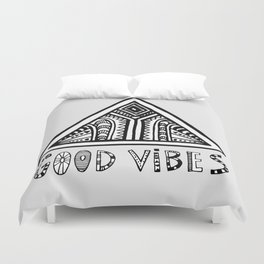 Good Vibes grey  mindset Duvet Cover