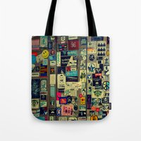 sticker Tote Bags featuring sticker by gzm_guvenc