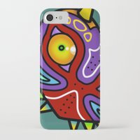 majora iPhone & iPod Cases featuring Majora Inspired Mask by Clover