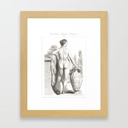 Human Anatomy Art Print WOMEN BODY BACK Vintage Anatomy, doctor medical art, Antique Book Plate, Med Framed Art Print