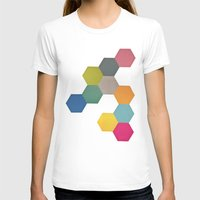 honeycomb T-shirts featuring Honeycomb I by Cassia Beck