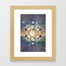 MoonGazer Framed Art Print