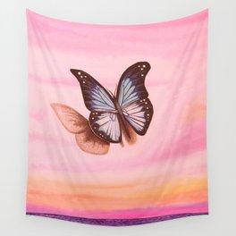 L'amour vogue avec le papillon Wall Tapestry
