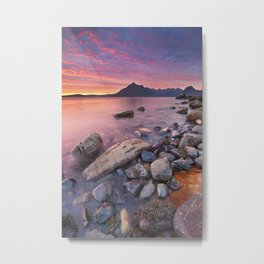 I - Spectacular sunset at the Elgol beach, Isle of Skye, Scotland Metal Print