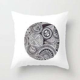 Full Mandala Moon Throw Pillow