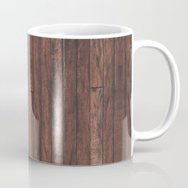 Cherry Stained Wood Barn Board Texture Coffee Mug