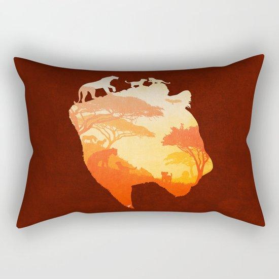 The Heart of a Lioness Rectangular Pillow