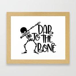 Dab To The Bone Framed Art Print
