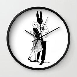Mr Bunny dancing Wall Clock