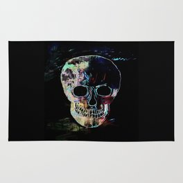 Skull By Annie Zeno  Rug
