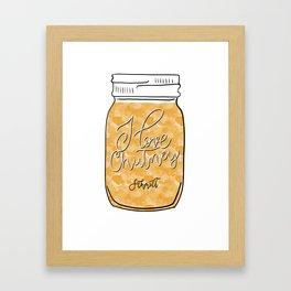 I love Chutney Framed Art Print