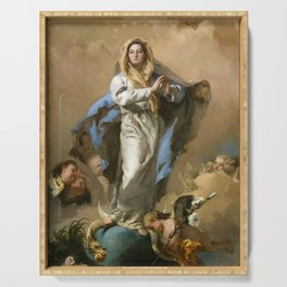 The Immaculate Conception by Giovanni Battista Tiepolo (c 1768) Serving Tray