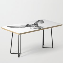 Black and White Dog Ears Coffee Table