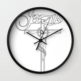 JEEZUS Wall Clock