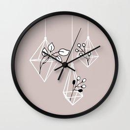 Zen Minimal Botanical Terrarium Wall Clock