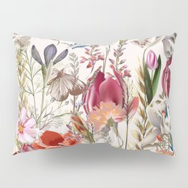 Pink Flowers Pillow Sham