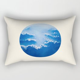 Mountains With Their Company Of Clouds Circle Photo Rectangular Pillow