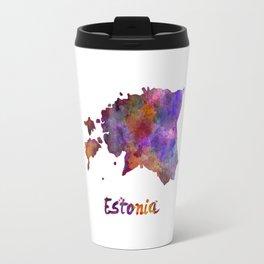 Estonia in watercolor Travel Mug