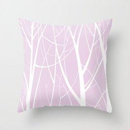 Purple Tree Pattern Throw Pillow