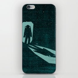 A door through space iPhone Skin