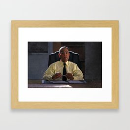Gus Fring In The Office Los Pollos Hermanos In Better Call Saul Framed Art Print