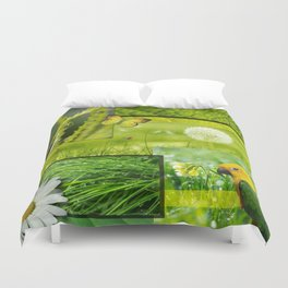 Lush Nature & Greenery Collage Duvet Cover