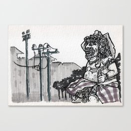 Bali : Mall Guardian Canvas Print