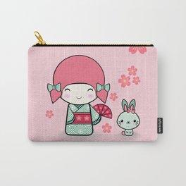 Kokeshi doll - Keiko e Usagi Carry-All Pouch