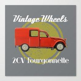 Vintage Wheels: Citroën 2CV Fourgonnette Canvas Print