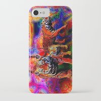 tigers iPhone & iPod Cases featuring Psychedelic Tigers by JT Digital Art