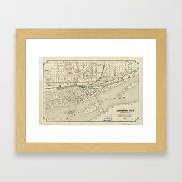 Map of Harrisburg, Pennsylvania (1884) Framed Art Print