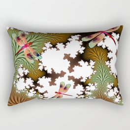 Fall Dragonflies Rectangular Pillow