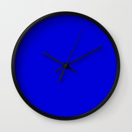 Solid Electric Blue Wall Clock