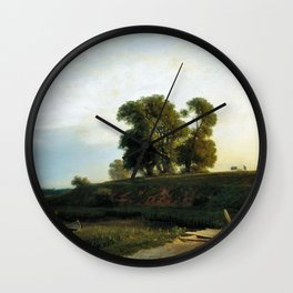View Of Lakhta Near St Petersburg 1850 By Lev Lagorio | Reproduction | Russian Romanticism Painter Wall Clock