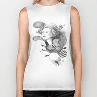 beethoven Biker Tanks featuring Beethoven by Wendy Ding: Illustration