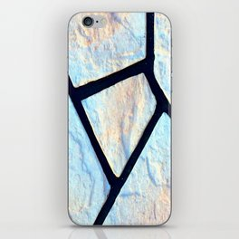stone black line uneven ocean blue brown pattern iPhone Skin